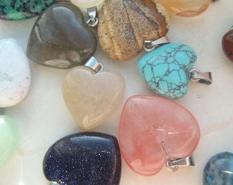 Genuine Gemstone Heart Necklaces