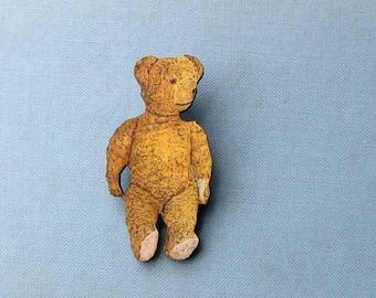 teddy bear brooch pin . antique steiff teddy bear pin . teddy bear badge