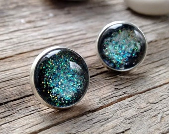 Galaxy earrings, galaxy jewelry, nebula earrings, stars earrings, nebula jewelry, cosmic earrings, interstellar earrings,