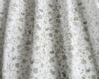 Kitchen Curtain Panel 54x24, White Green Cafe Curtain, Kitchen Valance, Linen Cotton Valance, Window Valance