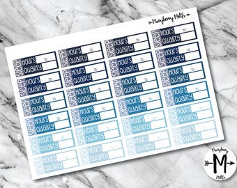 Sleep Tracker Stickers for Planners or Calendars