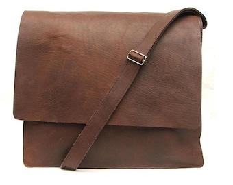 Messenger bag leather bag for Mens laptop bag Brown Leather Satchel leather cross body bag leather laptop bag for men Leather bag hand made