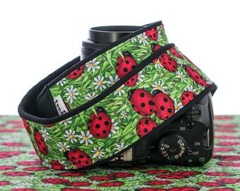 Ladybird Camera Strap, dSLR, Ladybug, SLR, SLR, Mirrorless, Quick Release, Camera Neck Strap, Canon Nikon Strap, Mirrorless 007
