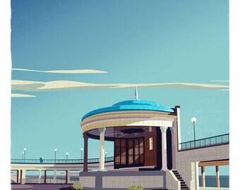 Eastbourne Bandstand retro print