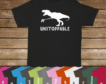 Unstoppable T-Rex Family Tshirts/Dinosaur Lover/T-Rex/Dinosaur Tshirt/Kids Tees/Jurassic/Tyrannosaurus