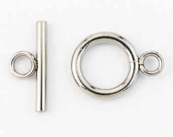 12mm Stainless Steel Simple Toggle Clasp #CLA201