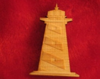 Wooden Customized Lighthouse Magnet