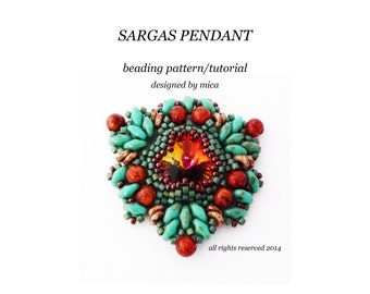 Sargas Pendant - Beading Pattern/Tutorial - PDF file for personal use only