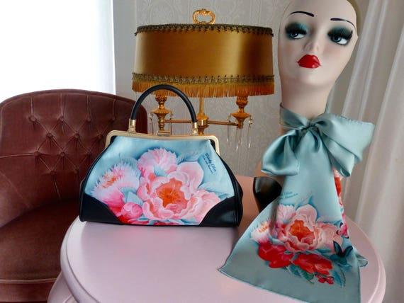 Handbag + Silk Scarf, 100% silk scarf, Idda bag, Christmas, gift for her, gift for mom, Woody Ellen, mom gift, christmas gift ideas