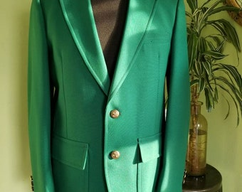 Vintage mens Kelly green blazer,  42