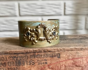 Antique Keyhole Patina Cuff by LRM