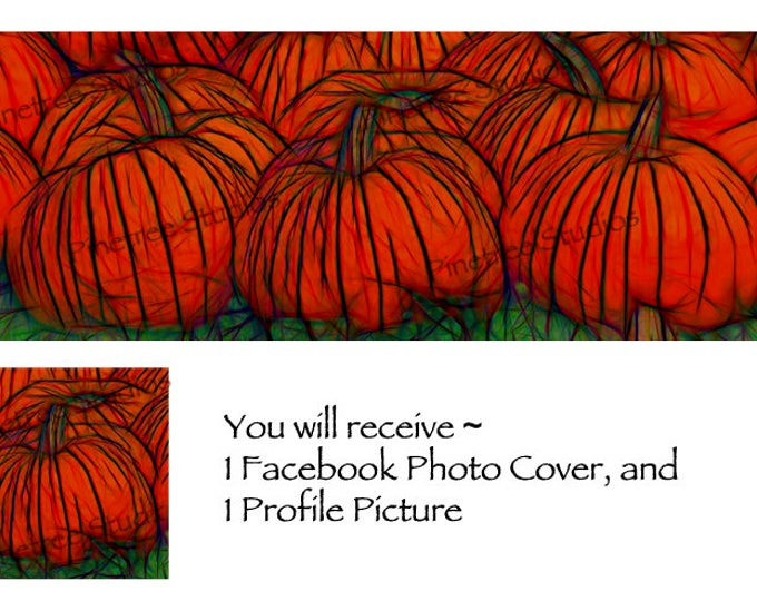 Pumpkin Patch Glow ~ Facebook Blank Cover Photo and Profile Picture