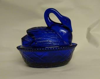 Westmoreland Cobalt Blue Swan On Nest