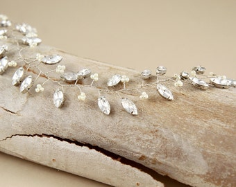 Sparkle Rhinestones bridal hair vine/ bridal hair jewelry/ Wedding hair vine/ Wedding hair accessories/ Tiaras