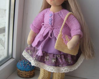 "Waldorf doll 16"", Lisa Waldorf doll cloth, Steiner doll, cloth doll, gift for girl, organic doll, Waldorf toy"