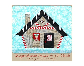Gingerbread House Paper Pieced Pattern
