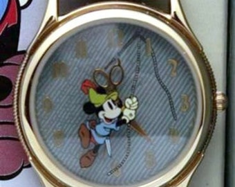 Disney Mickey Mouse Watch Disney Scissors Hour & Minute Hands Limited LE Fossil Watch
