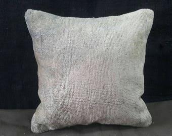 "Kilim Pillow, 16""×16"" İnches, Decorative Pillow, Carpet Pillow, Pastel Pillow, Pillow, Lumbar Pillows, Anatolian Pillow, Pillow Cover, Home"