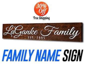 Family sign.family name sign.family sign wood.family established sign.family tree.family sign home decor.last name sign (Custom Sign)