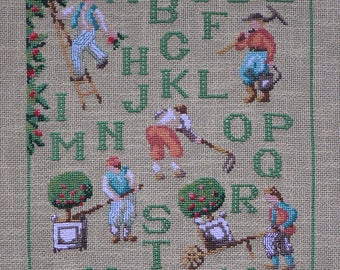 Embroidery on the theme of the Normandy countryside