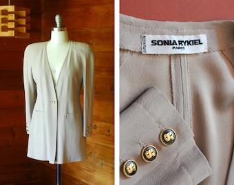 vintage Sonia Rykiel grey blazer / size medium