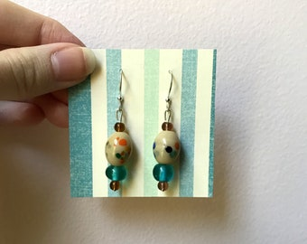 Multicolored Polka Dot Earrings