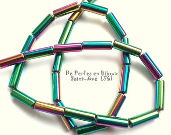 set of 10 beads hematite color metal multicolore13x4mm - REF. 7224842