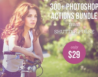 300+ Photoshop Actions Bundle - Adobe Photoshop Actions