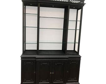 SALE - black vintage China Hutch