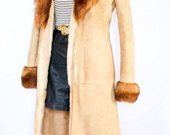 Vintage 1970s Penny lane coat UK 12