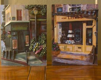 Parisian Storefronts - Set of Two - 3D Resin - Livres Estampes - Bookstore - Paris France - Wall Decor - Vintage Home Decor