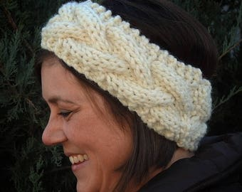 Cabled Earwarmer - AVAILABLE IN 24 COLORS