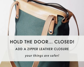 Add-On » Safety : zipper leather closure