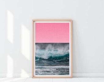 Ocean Wave Printable Print, Ocean Wall Art, Water Print, Ocean Decor , Sea print, Nature Prints, Beach house Print, Instant download