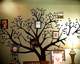 "Craftistics Huge Family Tree Wall Decal, Large Artistic DIY Home Decor (96"" Inches X 108"" Inches)"