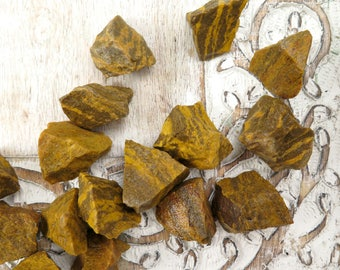 Tigers Eye Raw Stones - Rough Tigers Eye - Raw Rough Stones - Healing Crystals and Stones - Reiki Crystals - Natural Stones - Minerals -