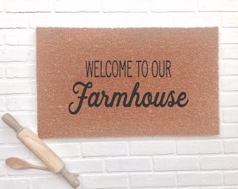 Welcome To Our Farmhouse|Doormat
