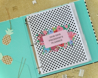 PTA / PTO President's Planner,  Printable Organizer and Printable Planner, PTA binder, pto binder for the best pta life