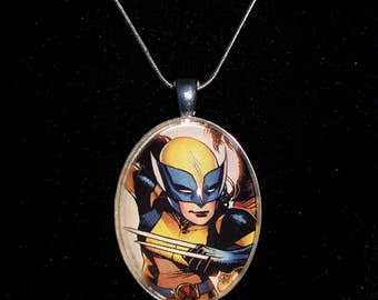 Marve X-Men X-23 Wolverine Large Pendant