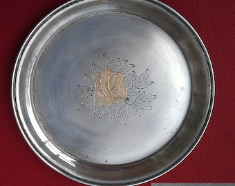 Silver plate, Soviet solid silver plate of 1953 Kiev URSS origin, video here - https://youtu.be/YdzOzVkjUIc