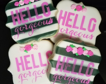Hello Gorgeous Party Favor Sugar Cookies