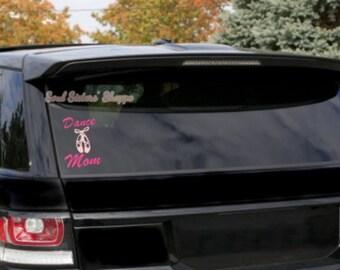 Dance Mom Decal, Dance Mom Window Cling, Dance Mom Car Decal, Proud Dance Mom
