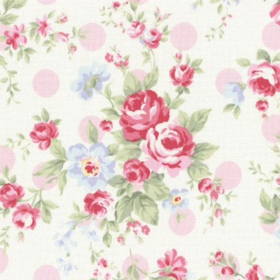 princess rose fabric by lecien shabby chic fabric cream fabric rh etsystudio com  shabby chic fabric by the yard windows