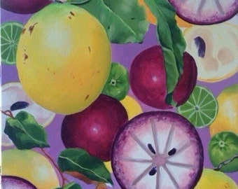 Abiu and Star Apple in all their Splendour by Australian artist Bev Gribble