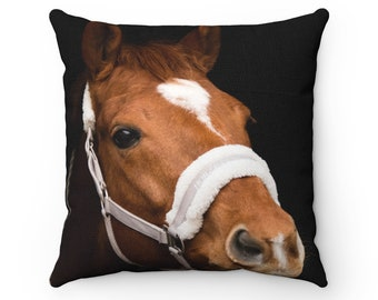 Horse Spun Polyester Square Pillow