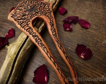 Hair fork with ornaments ~ boho hair ~