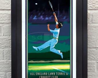 Wimbledon tennis sports art poster print