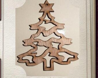 Christmas Tree Ornament - Laser Cut Wood