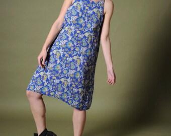 Vintage sundress Blue flowers sundress Floral summer dress Strap dress Strap sundress Printed sundress Floral strap dress Blue floral dress