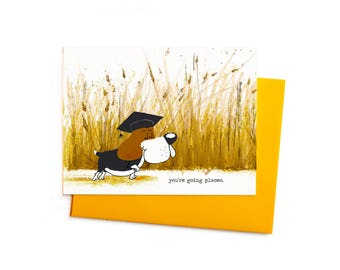 You're Going Places Beagle Graduate, Funny Graduation Card